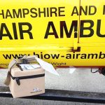 AIR AMBULANCE TO CARRY BLOOD ON BOARD