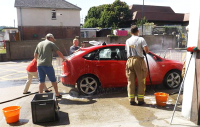 CHARITY CAR WASHES RAISE OVER £1000