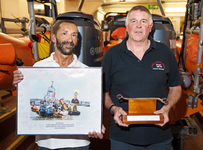 RETIRING LIFEBOAT MECHANIC GETS A SUITABLE REMINDER