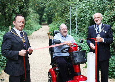 NEWLY RESURFACED PATH OFFICIALLY OPENED BY USERS