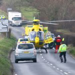 MOTORCYCLIST DIES 4 WEEKS AFTER DOWNS COLLISION
