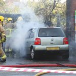 CAR FIRE SPREADS TO BRADING CHURCH