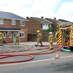 PROPERTY FIRE CLOSES NEWPORT ROAD
