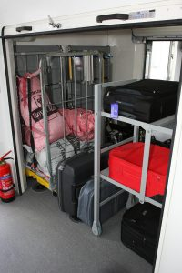 The new internal, secure luggage compartment