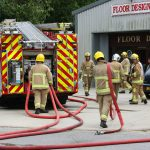 PORTACABIN FIRE BREAKS OUT IN SANDOWN