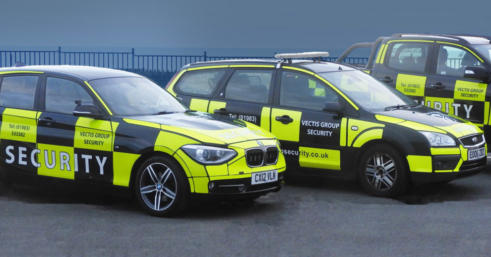 Vectis Group Security have a fleet of high-visibility vehicles