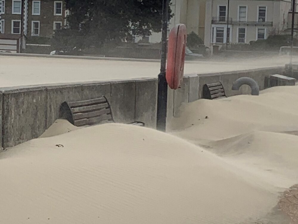 Sand Drifts In Ryde (jane Grewcock)