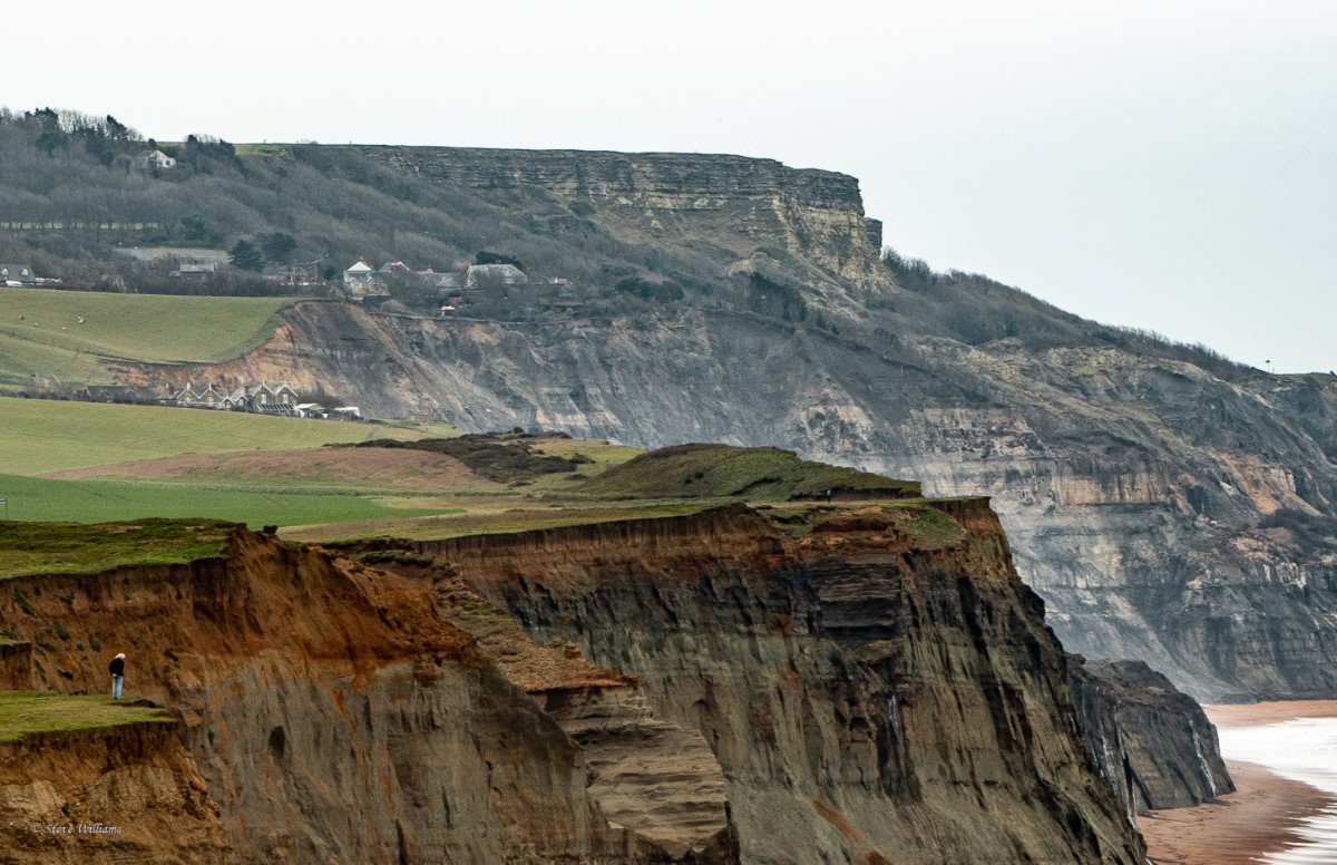 Cliff Top Views Photo Taken From Whale Chine Looking Towards Blackgang ~ Photo Credit Steve Williams