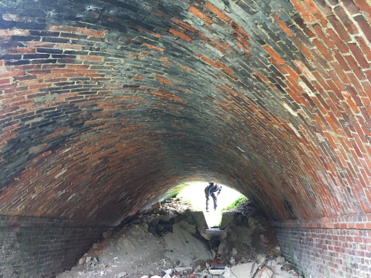 Inside The Old Railway Tunnel. Wonderful Brickwork Wroxall. (elmer Keith)