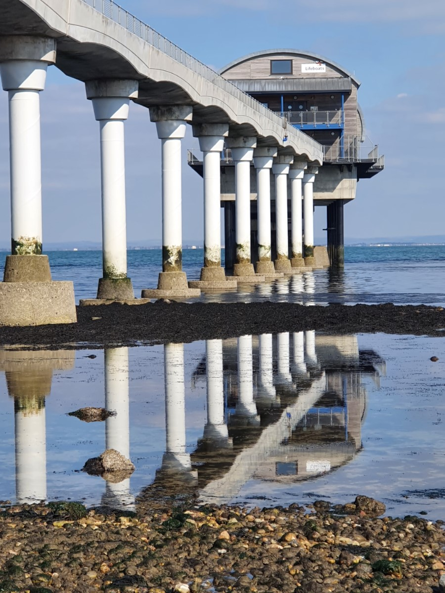 Reflections At Low Tide. Lifeboat Station At Bembridge (lin Scott)