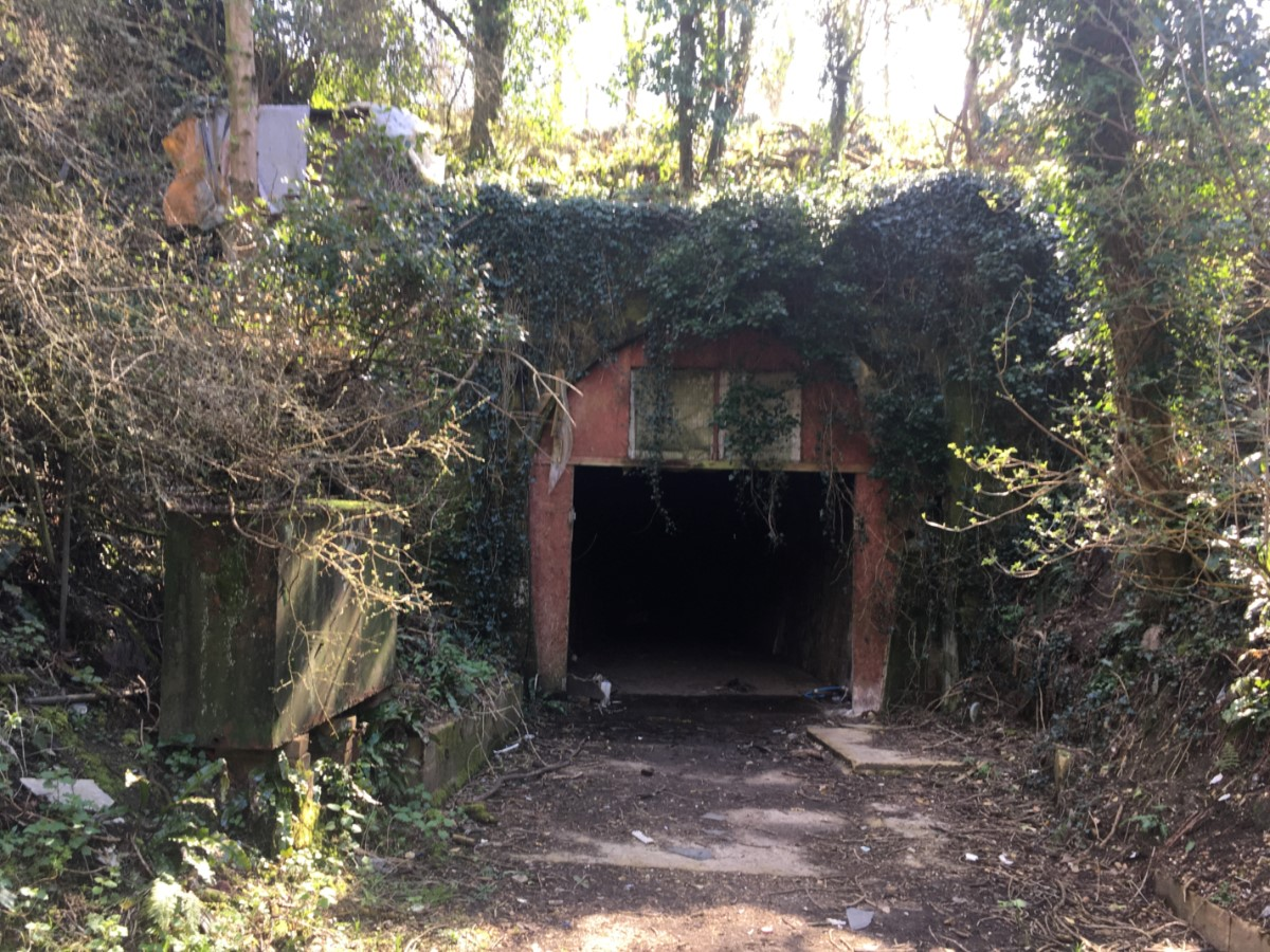 Old Railway Tunnel Entrance Whitwell To St Lawrence Line. Private Place ~ Photo Credit Elmer Keith